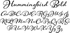 Hummingbird Bold Font - Hummingbird is reminiscent of old-fashioned cursive penmanship, the sort learned by endless repetition and found in treasured letters bundled together by silken ribbons or in worn leather-bound ledgers.