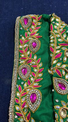 Mirror Work Blouse Design, Hand Embroidery Design Patterns, Best Blouse Designs, Maggam Work Designs, Hand Designs, Mehndi Designs, Tutorials, Tips, Simple