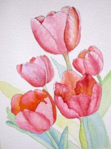 Painting Tulips with my Class | Debbie Waldorf Johnson