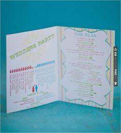 unique wedding programs   VIA #WEDDINGPINS.NET