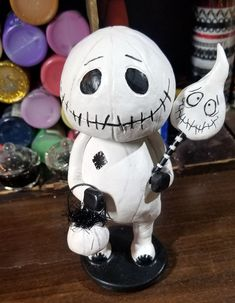 Skeleton doll with mask, pumpkin bucket and ghost sucker made to order