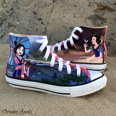 Hey, I found this really awesome Etsy listing at https://www.etsy.com/listing/202567057/mulan-and-snow-white-converese