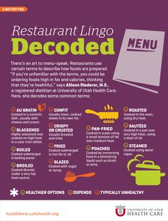 Restaurant Lingo Decoded | Health Feed, Expert Health News & Information #calories #restaurant #foodhacks
