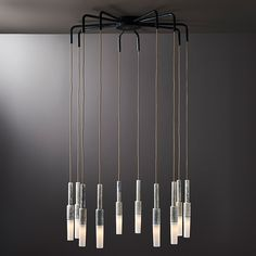 The Spider luminare features ten I-O-N I tendrils suspended from its five pairs of arms. A hybrid of mid century modern and mutant arachnid, this luminair is designed to be a void filler and a feature in an open or tall space. The length of the drop is customised to client specifications and the diameter is flexible up to 1200mm. Various metal and porcelain finish combinations are available.