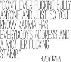 Karma's a bitch!
