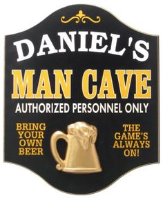 Custom Man Cave Sign - Valentine's Day gift for him