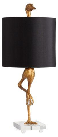Ibis Table Lamp, Gold - Well-Collected Charm - Week 31 - Sales Events | One Kings Lane