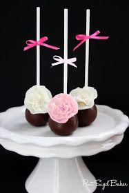 Cake Pops, Flower, Fondant, Spring, Elegant, Fancy