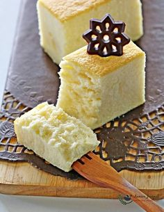 This pillowy cotton cheesecake is a very light fragrant cake that just melts in the mouth, and is always the first one to go on the table.