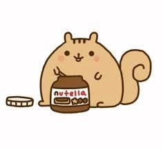 Fat pusheen squirrel: since I'm so fat and lazy this is as close to getting acorns as I could get XD