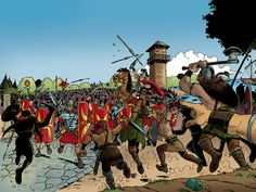 De Romeinse Limes   entoen.nu  Romeinen vs Germanen