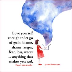 Love yourself enought to let it go... #notsalmon #quote #inspirational