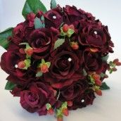 Burgundy is a rich, romantic, warm colour perfect for a Winter or Christmas Wedding.