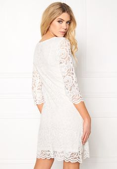 Happy Holly Lina lace dress Offwhite - Bubbleroom