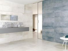 Gala is a cement-like wall tile collection combining large format, neutral colors & many decorative pieces.