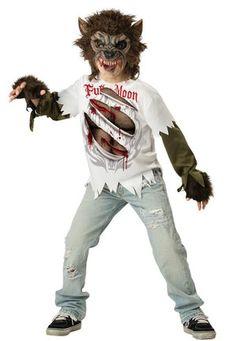Kids Full Moon Werewolf Costume #mrcostumes