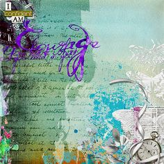 Courage by Jana Oliveira using mixed media digital designs from Viva Artistry Designs