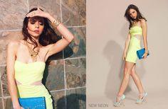 Neon yellow dress!