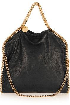 21e2d9364de1 Gold hardware on a Stella McCartney bag! Stella McCartney - The Falabella  Medium Faux Brushed vegan leather Shoulder Bag in Black
