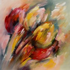 schilderij tulpen abstract - Google zoeken