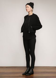 Acne Studios Olympia Bomber Jacket in Black