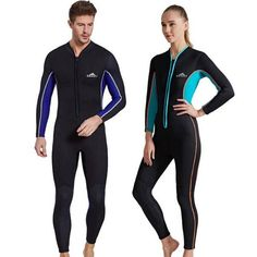 Front Zip Flatlock Stitch 3mm Full Body Wetsuit