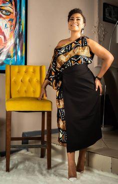 Silk / Bogolan dress by talansi-latelier - Long dresses - Afrikrea African Print Clothing, African Print Dresses, African Print Fashion, African Fashion Dresses, Fashion Outfits, Ankara Fashion, African Attire, African Wear, Ankara Dress Styles