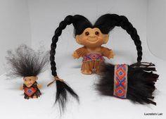 Vintage Dam Troll Doll American Indian Woman OOAK