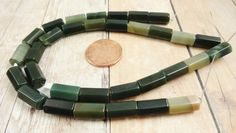 Imperial Jasper Faceted Tube Beads Stone by StoneWingSupplies