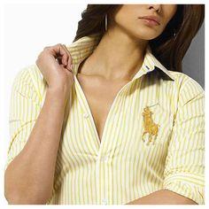 Ralph Lauren Coton Stripe Shirt Femme