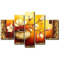 Professional Painter Team Handmade High Quality Abstract Golden Flower Oil Painting on Canvas Beautiful Vase Flower Painting Flower Painting Canvas, Oil Painting Flowers, Texture Painting, Canvas Art, Multiple Canvas Paintings, Surealism Art, 3 Piece Wall Art, Ganesha Painting, Home And Deco