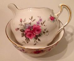 Royal vale sugar bowl and creamer