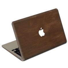 Leather MacBook cover - super chic.  If I were a MacBook person, I would SO want one!