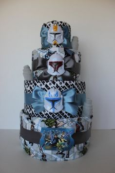 Star Wars Diaper Cake! So cute!