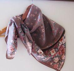 Laura Ashley vintage floral silk scarf 70s by foulardfantastique, $22.00
