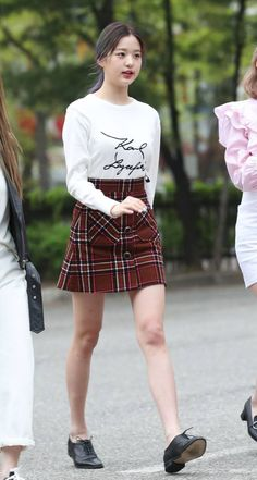 Photo album containing 23 pictures of IZ*ONE Fashion Tag, Daily Fashion, Girl Fashion, Womens Fashion, Kpop Outfits, Korean Outfits, Casual Outfits, Korean Fashion Kpop, Asian Fashion