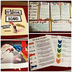 Students can create SMART goal boards using this product and manila folders! $