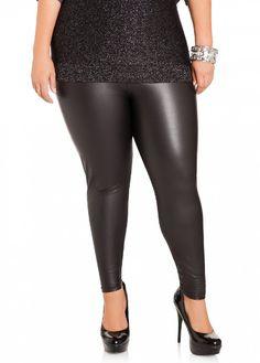 abd2a4de5a0 Ashley Stewart Women s Plus Size Faux Leather Leggings - http   www.amazon