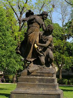 Šárka a Ctirad (Šárka and Ctirad ) by Olduser, via Flickr Czech Tattoo, Garden Sculpture, Lion Sculpture, Heart Of Europe, Statue, Outdoor Decor, Sculpture, Sculptures