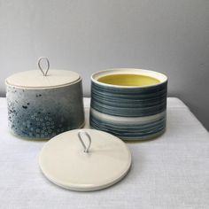 """283 Likes, 18 Comments - Juliet Macleod (@thecloudpottery) on Instagram: """"These new, small covered jars are fresh out of the kiln and will be at CRAFTED @dcadundee next…"""""""