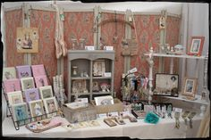 This page shows you some DIY and Vintage display ideas for handmade goods at craft fairs.  As we all know, a display can really draw in the customers so it's essential to have something that makes you stand out from the crowd.
