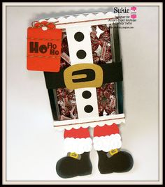 DT Sukie @ Twine It Up! by Annie's Paper Boutique shares a cute Santa treat featuring the Holly Berry Trendy Twine & Candy Tin.