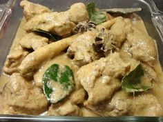 Opor Ayam--delightful mild Indonesian Curry. If only I had some in front of me right now!