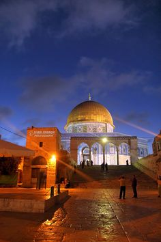 Dome of the Rock, Jerusalem Dome Of The Rock, Temple Mount, Earth Photos, Beautiful Mosques, Cathedral Church, Islamic Architecture, Holy Land, Palestine, Countries Of The World