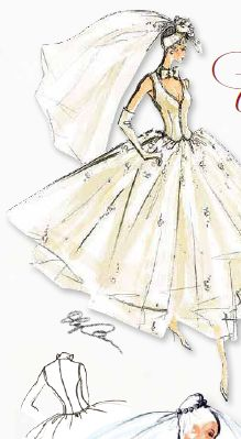 Like the variations on the traditional bridal white, 'long' comes in many shades. The few inches between a floor length gown and a tea length gown, can speak volumes about the occasion's mood and formality.