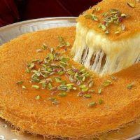 Kunafa recipe most royal and supreme Arabian dessert made up of mozzarella cheese and vermicelli, which gives crisp,chrunchy finishing and sweet taste. Arabic Dessert, Arabic Food, Easy Kunafa Recipe, Master Chef, Turkish Cheese, Pasta Recipes Indian, Turkish Sweets, Western Food, Recipes