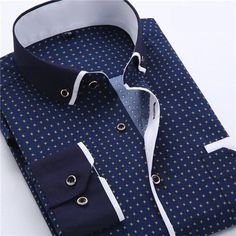 New Dress Fashion Quality Long Sleeve Shirt Men Slim Design,Formal Casual Male Dress Shirt Autumn Printed Men Shirt Long Sleeve Male Business Casual Fashion Formal Dress Shirts Slim Fit Camisa Plus Size Business Shirts, Business Dresses, Business Casual, Social Business, Business Men, Formal Shirts For Men, Casual Shirts, Casual Mode, Men Casual