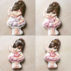 Ballet girl processing #ballerina #royalicing #icingcookies #sugarcookies #decoratedcookies #cookietutorial