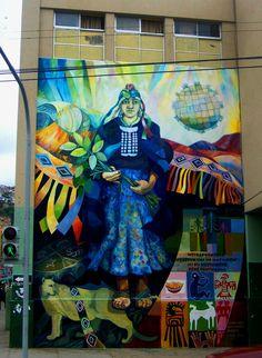 Mural de machi, Valparaiso, Chile, 2005, foto por luz:alhucema