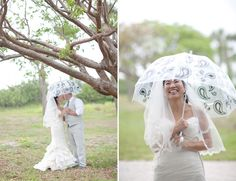 @Jessica Lorren photography of a beautiful bride and groom still smiling in the rain. Take that Irene!
